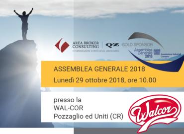 Area Broker & QZ Consulting è Gold Sponsor dell'Assemblea Generale 2018 dell'AIC
