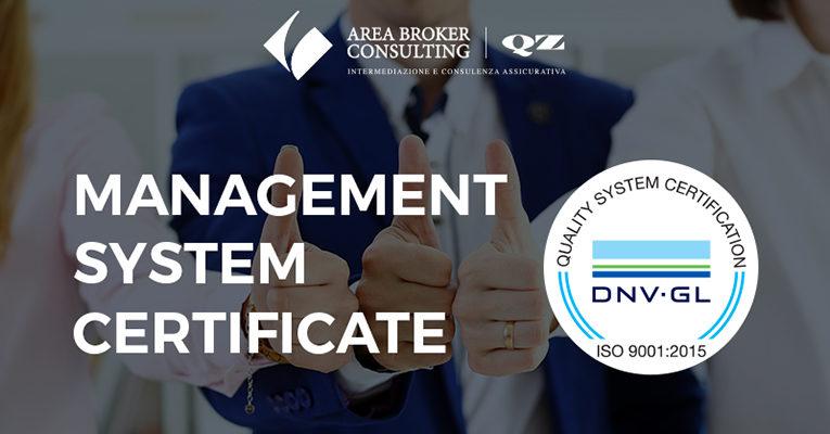 Area Broker & QZ Consulting ottiene la certificazione di qualità ISO 9001:2015
